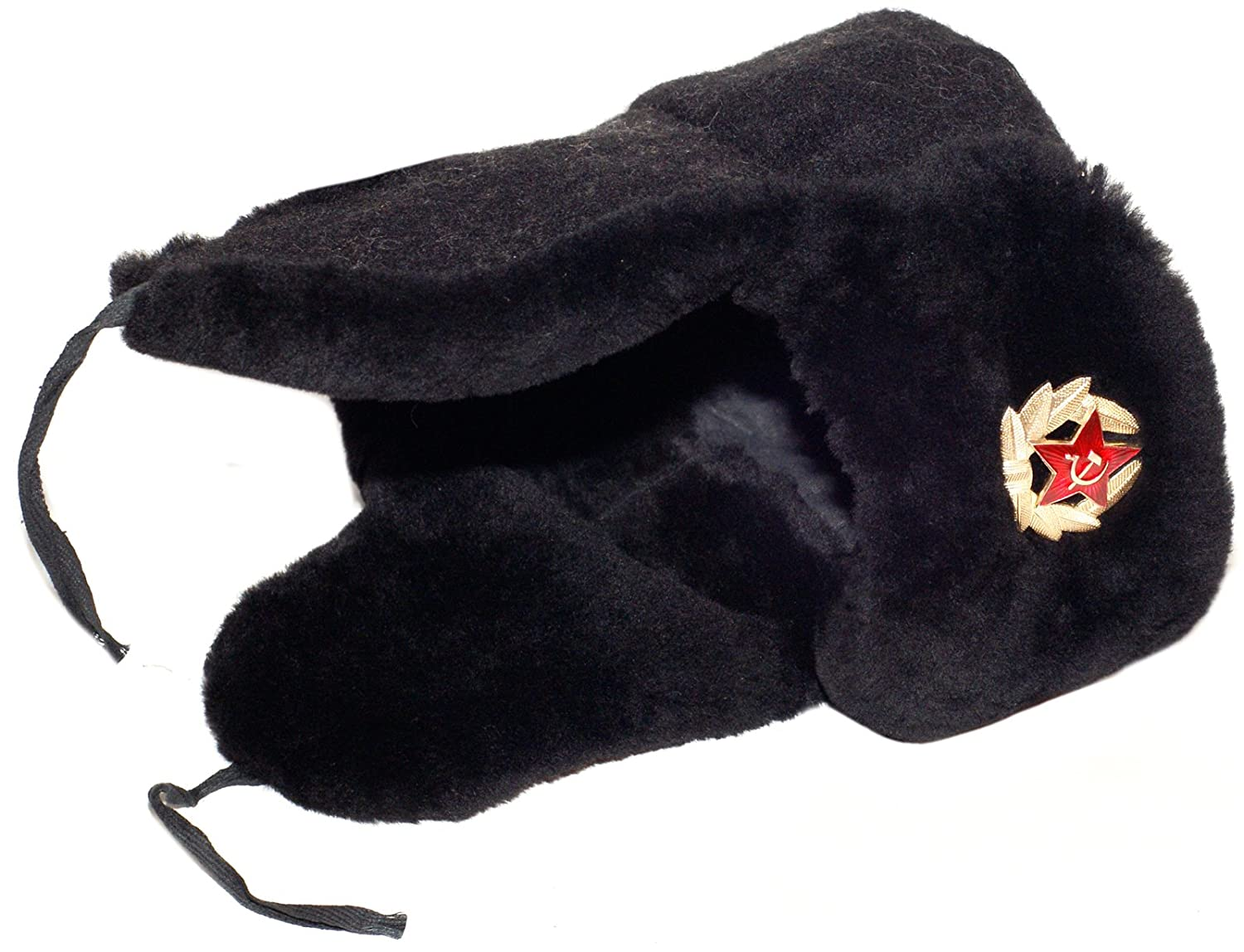 4ef677ea2 Navy Officer of the Russian Federation Lambskin Ushanka Hat, Soldier  Insignia
