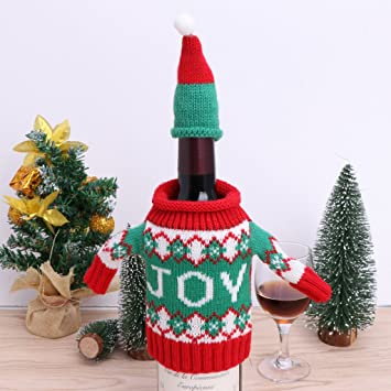 Amazon Aixia Christmas Sweater Wine Bottle Cover Christmas