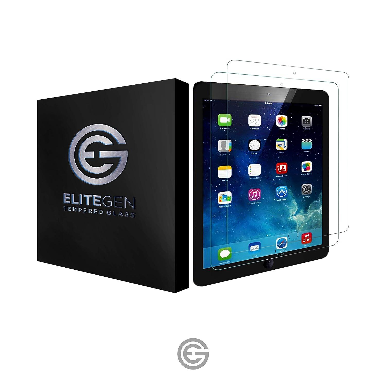 iPad 9.7インチ 強化ガラススクリーンプロテクター (2パック) 9H ケースに優しい 指紋防止 傷防止 取り付け簡単   B07KDQKMTD