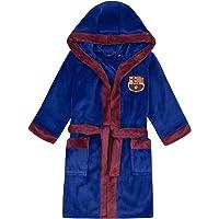 FC Barcelona - Batín oficial con capucha - Para niño - Forro polar