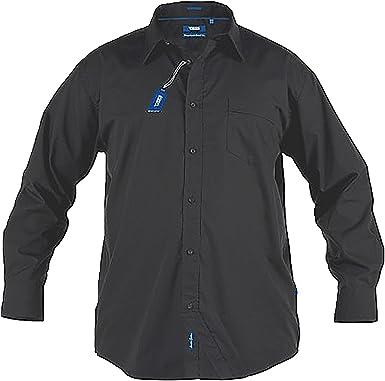 D555 Duque Talla Grande Grande Hombre Alastair Manga Larga Camisa Oxford Negro 2XL-6XL: Amazon.es: Ropa y accesorios
