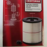 Amazon Price History for:Craftsman 9-17816 Filter Fits All Current Craftsman Vacuums 5 Gallons and Above