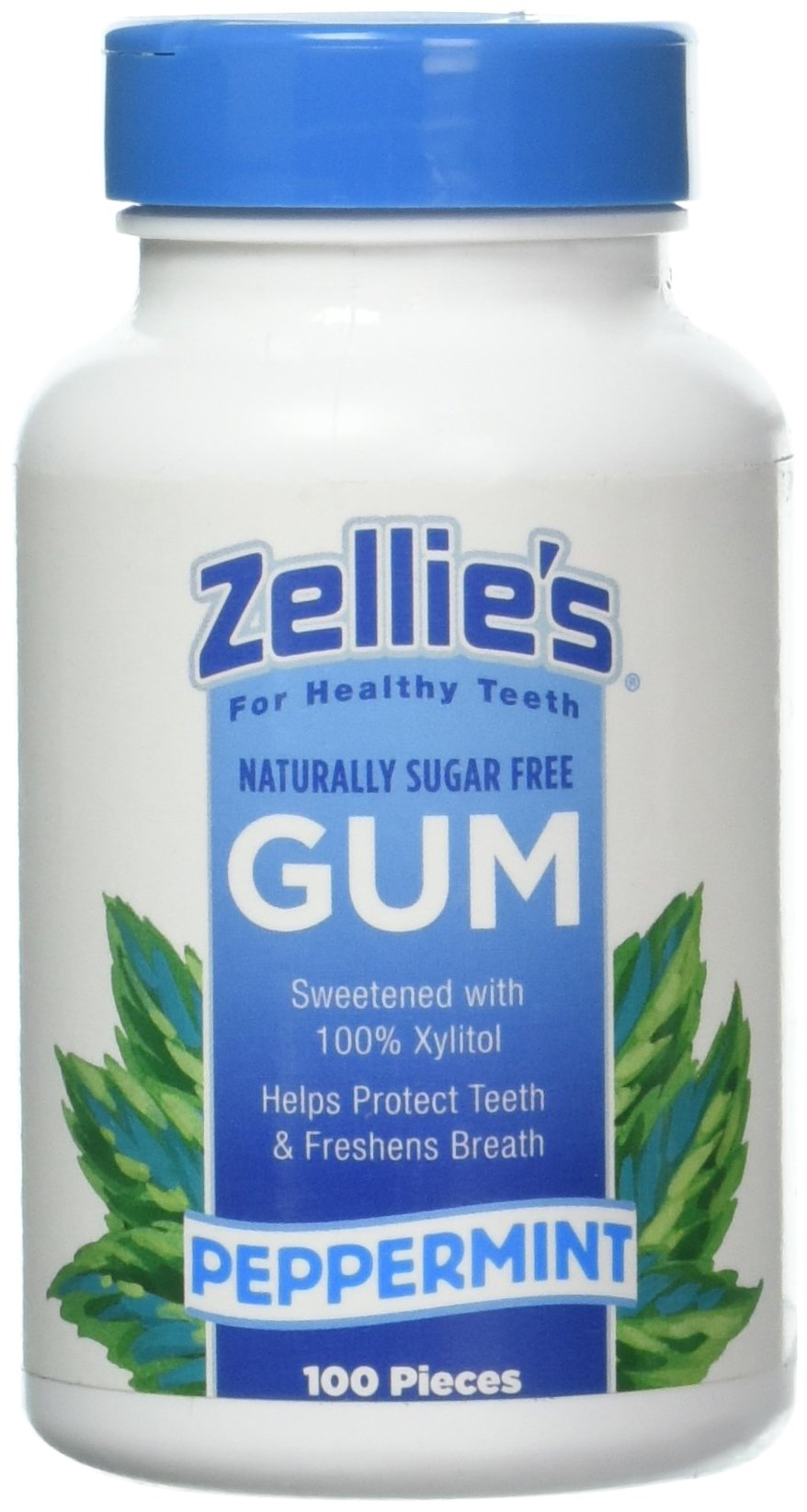 Zellies Peppermint Gum, 100 Count Jar