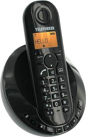 Telefunken Peps 251 - Teléfono inalámbrico DECT, color negro (importado): Amazon.es: Electrónica