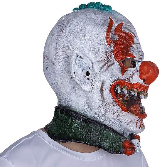 WOFEIYL Halloween Máscara Látex Sombrero Horror Fumar Payaso Máscara Partido Divertido Espectáculo De Pelota De Vestir Accesorios: Amazon.es: Hogar