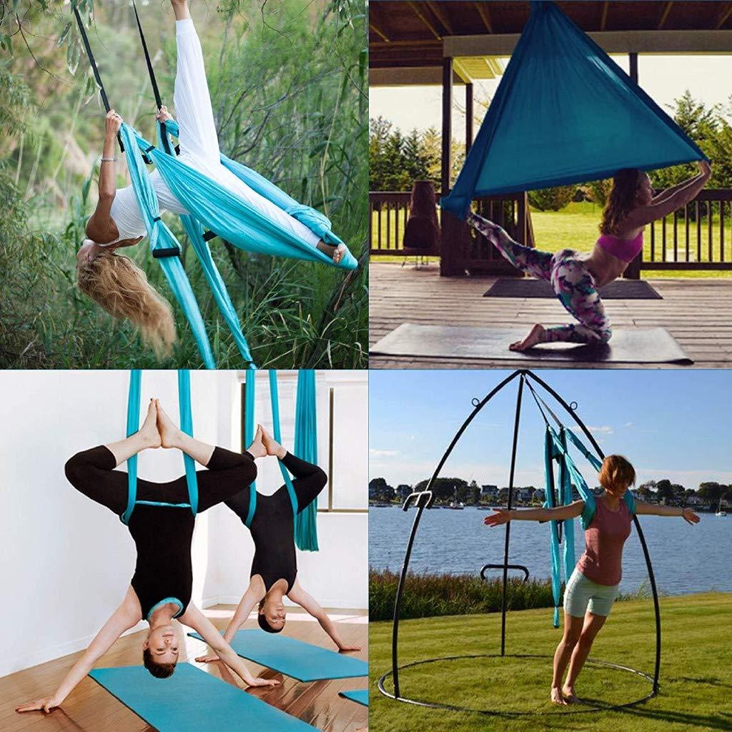 XGao Aerial Yoga Swing Set Yoga Hammock Sling Trapeze Yoga Kit 2 Extension Straps Wide Flying Yoga Inversion Tool Antigravity Ceiling Hanging Yoga Slings for Women Men Adults Kids Beginners