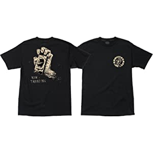 Santa Cruz Skateboards Horton Hand Black T-Shirt - Medium