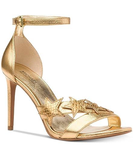 62e87d82d566 Michael Michael Kors Woman s Lexie Sandal Patent Gold (8)