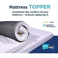 FitMat Memory Foam Mattress Topper Cover