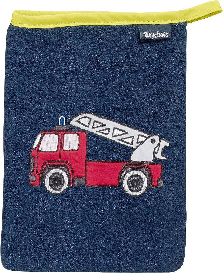 Playshoes 340094 Frottee-Waschhandschuh Feuerwehr