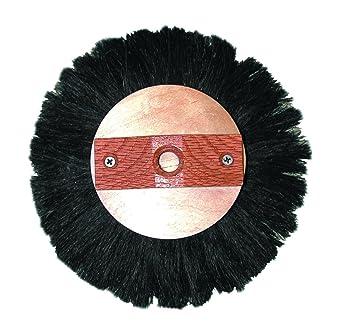Magnolia Brush CF-10 Plywood Crowsfoot Pattern Texture Round Brush White Tampico Fiber Bristles Case of 6 8 Diameter 8 Diameter Case of 6