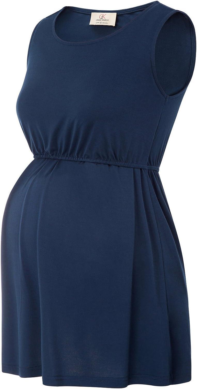GRACE KARIN Womens 2 Layers Sleeveless Maternity Nursing Breastfeeding T-Shirt Tank Tops
