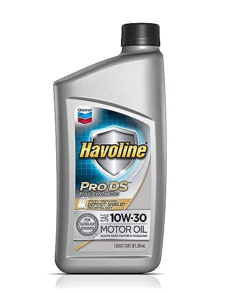 Amazon.com: havoline prods sintético Aceite de motor 10 W 30 ...