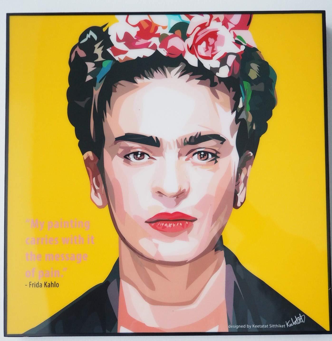 Glagoods Frida Kahlo Pop Art Canvas Framed Wall Art Prints Poster