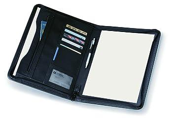 Carpeta portafolio con cremallera de negocios conferencias con bloc A4: Amazon.es: Juguetes y juegos