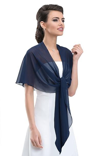 Gasa estola gasa bufanda perfectamente a cualquier vestido de novia - para vestido de noche, Noche de Bodas Gala - No se desliza - de color blanco - Crema ...
