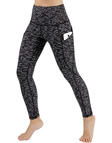 e09427b904c ODODOS High Waist Out Pocket Yoga Pants Tummy Control Workout Running 4 Way  Stretch Yoga Leggings