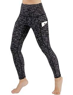 6b7cf96a0 ODODOS High Waist Out Pocket Yoga Pants Tummy Control Workout Running 4 Way  Stretch Yoga Leggings