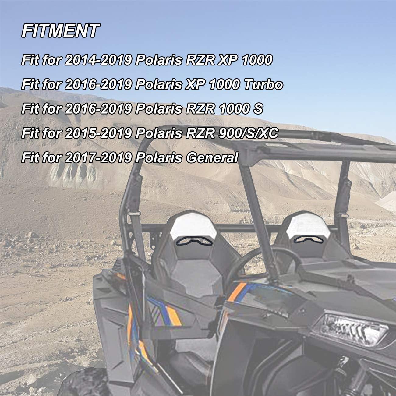 2 PCS AUFER Harness Pass Through Bezel Fits for 2014-2019 Polaris RZR XP 1000 900 S XC General