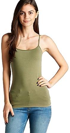 7b2d5126635 Hollywood Star Fashion Cami Camisole Built in Shelf Bra Adjustable  Spaghetti Strap Tank Top Plus Size (2XL