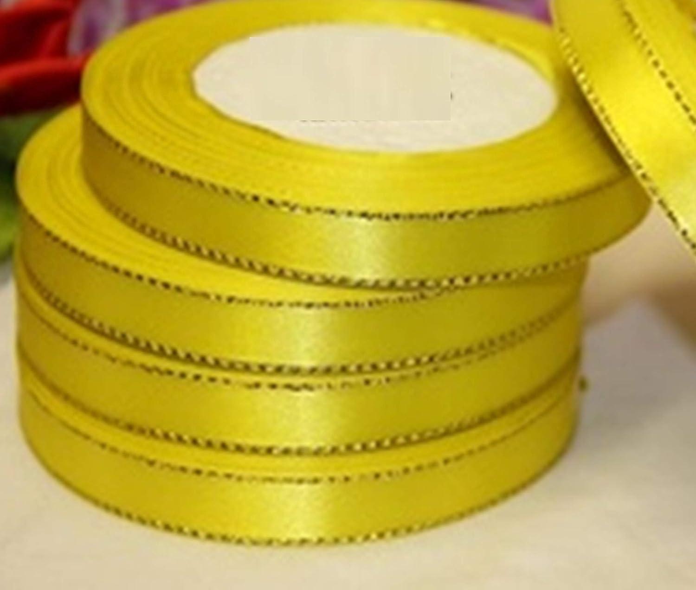 D/écoration tendance 1 x 23 m Accessoires de bijoux Cr/éation de bijoux Rouleau de papier cadeau de No/ël de mariage GCS Ruban de satin avec bords dor/és 20 mm 20mm Orange