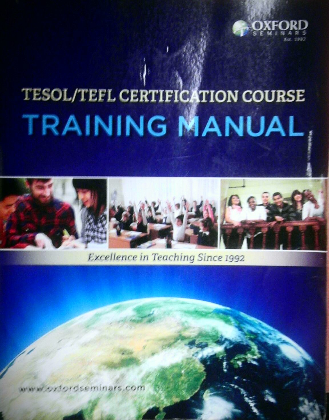 Tesoltefl Certification Course Training Manual Oxford University