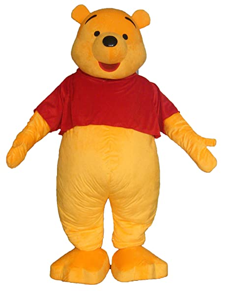 3b344a50c8d5 Amazon.com  Aris Funny Cartoon Character Winnie The Pooh Mascot Costume for  Birthday Party  Clothing