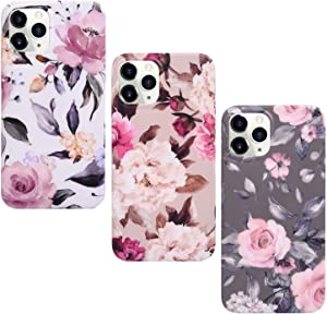 MOLLYCOOCLE Compatible with iPhone 12/12 pro, Cute Floral Flower Design for Girls,Heavy Two-Tier Shockproof with Soft TPU Inside Protective Cases Compatible with iPhone 12/12 pro£¨6.1 inch£