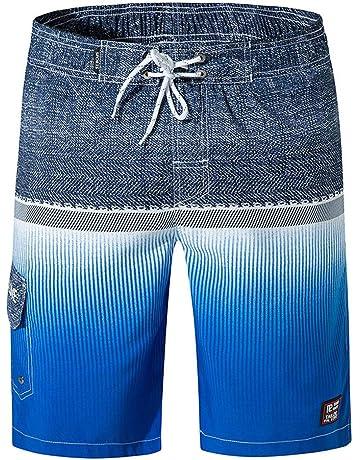Sencillo Vida Pantalones Cortos para Hombre Splice Pantalón Corto Casuales Shorts Bermudas Bañador De Playa Al