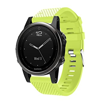 TOPsic Correa de Reloj para Garmin Fenix 5S,Banda de Reloj de Repuesto de Silicona Suave para Garmin Fenix 5S Multisport GPS Smart Watch (NO Sirve ...