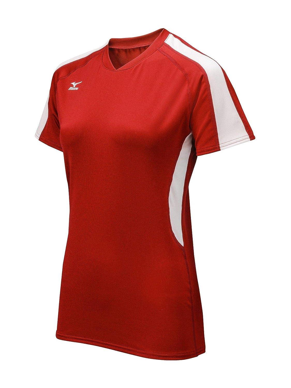Rouge blanc XXS Mizuno pour Femme Techno Volley IV Maillot à Manches Courtes