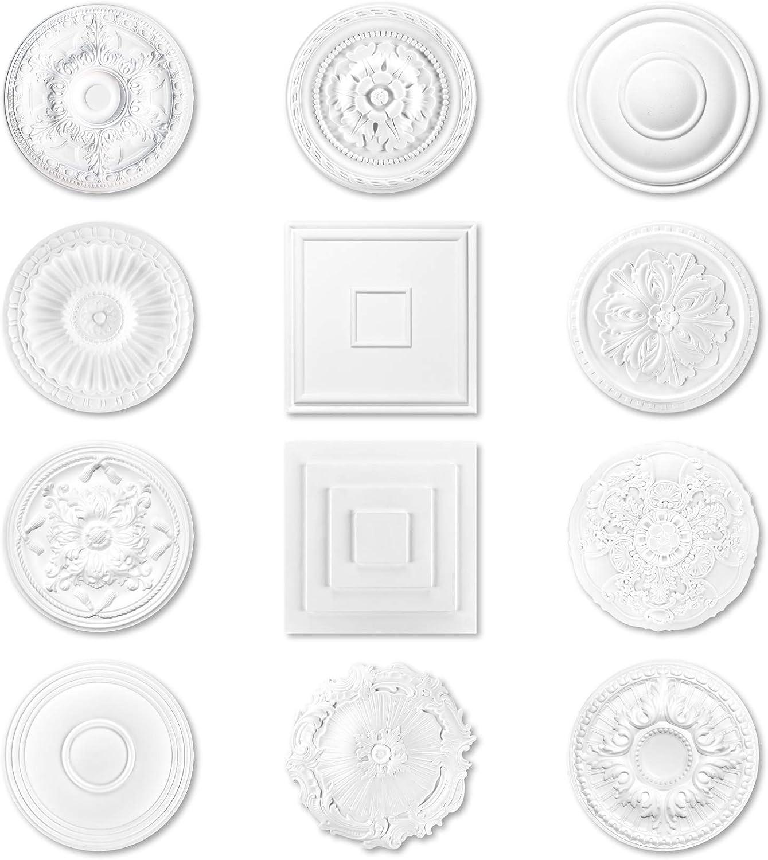 viele Modelle Rosette aus Styropor Stuck f/ür Decke und Wand DR18 1 St/ück /Ø 65cm dekorative Kronleuchter Umrandung