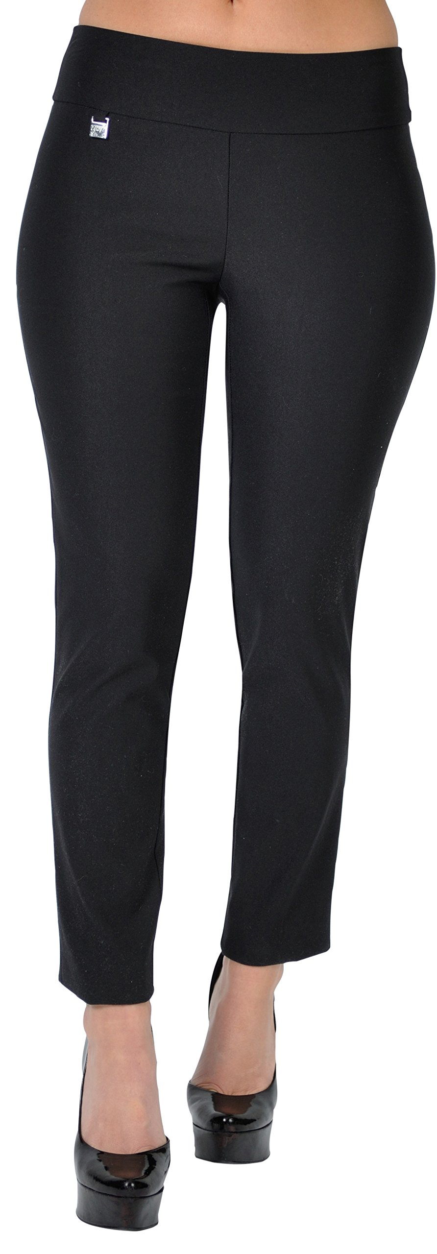 UP Womens Slim Ankle Pants Flatten and Flatter Style 64566 Size 14 Black