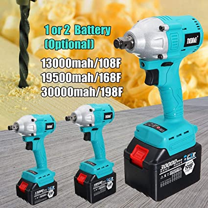 Buy ShopWell Electric Impact Wrench Cordless Rechargeable Lithium