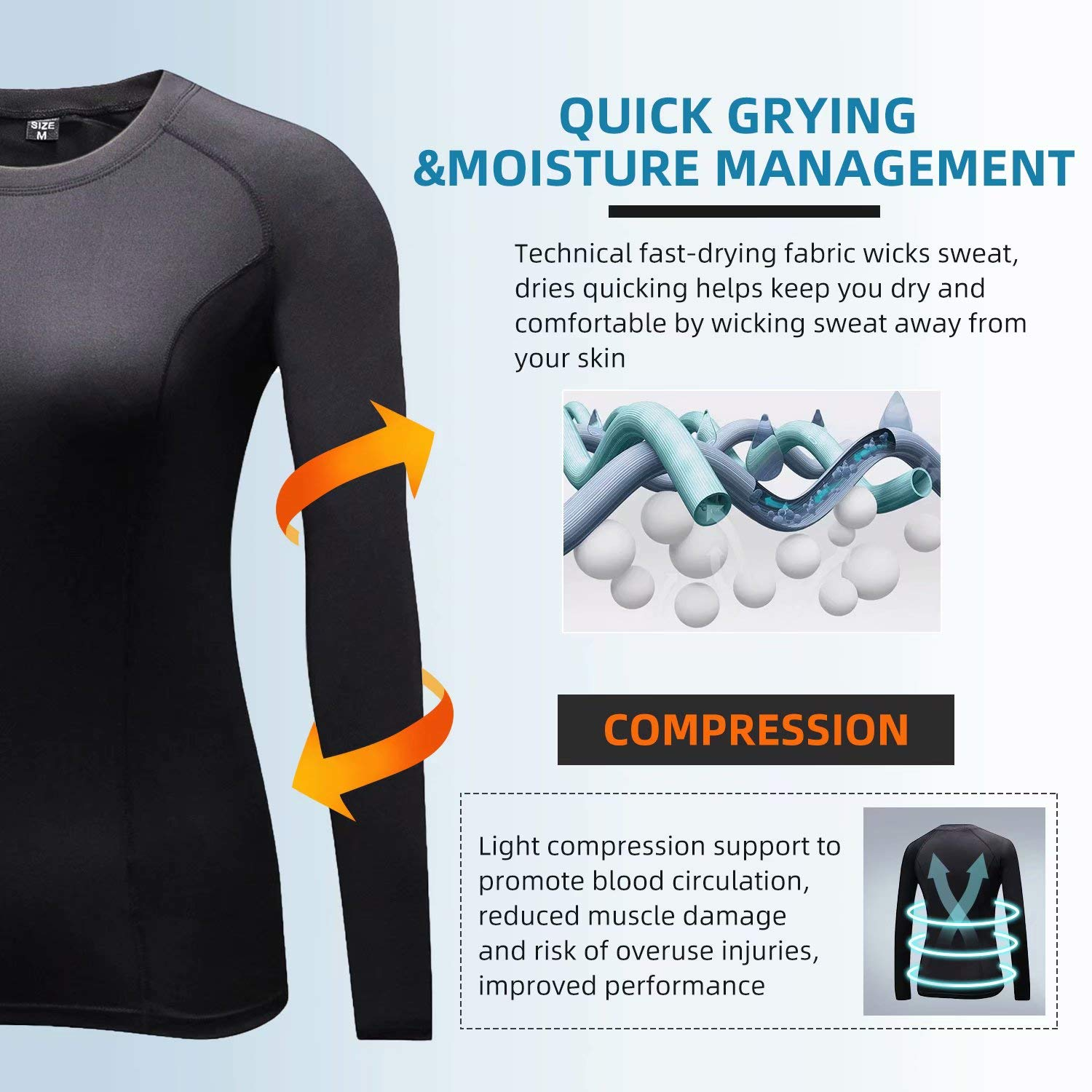 Sillictor Womens Theraml Base Layers Women Compression Sports Tops for Ski Running Hiking Cycling