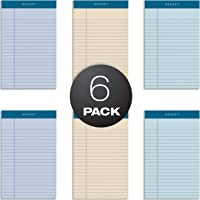 TOPS Docket 100% Recycled Writing Tablet, 5 x 8 Inches, Perforated, Assorted Colors: Orchid, Ivory, Blue, Narrow Rule, 50 Sheets per Pad, 6 Pads per Pack (99601)