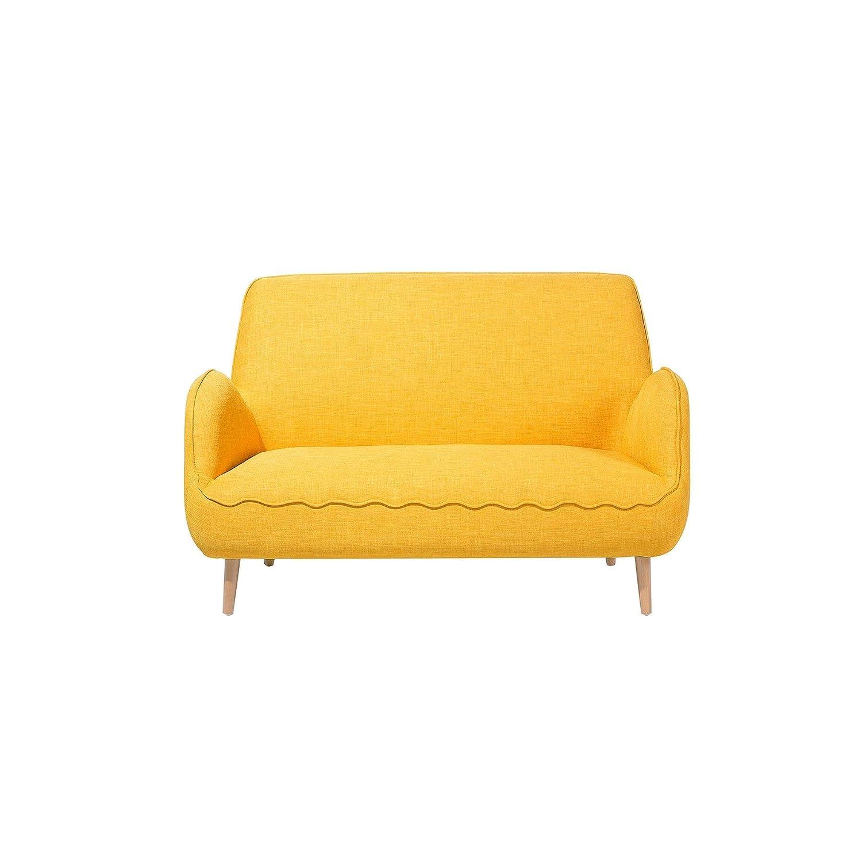 Beliani Modern Contemporary Cosy Small Upholstered Yellow ...