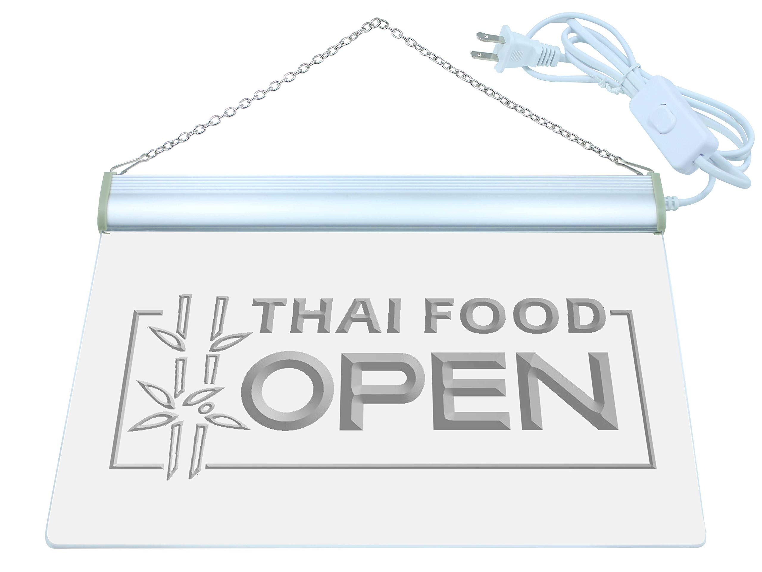 ADV PRO j705-b Thai Food OPEN Cafe Restaurant Neon Light Sign by AdvPro Sign
