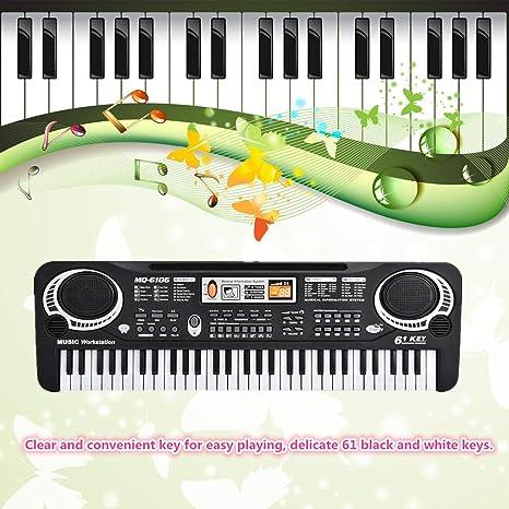 Mini Piano Eléctrico Piano Eléctrico, Piano Órgano Eléctrico, Piano Teclado Eléctrico, para Niños para Niños