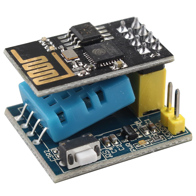 HALJIA ESP8266 ESP-01S Serial Wireless Transceiver+DHT11 Temperature Humidity Monitor For Smart Home IOT Arduino DIY Kit