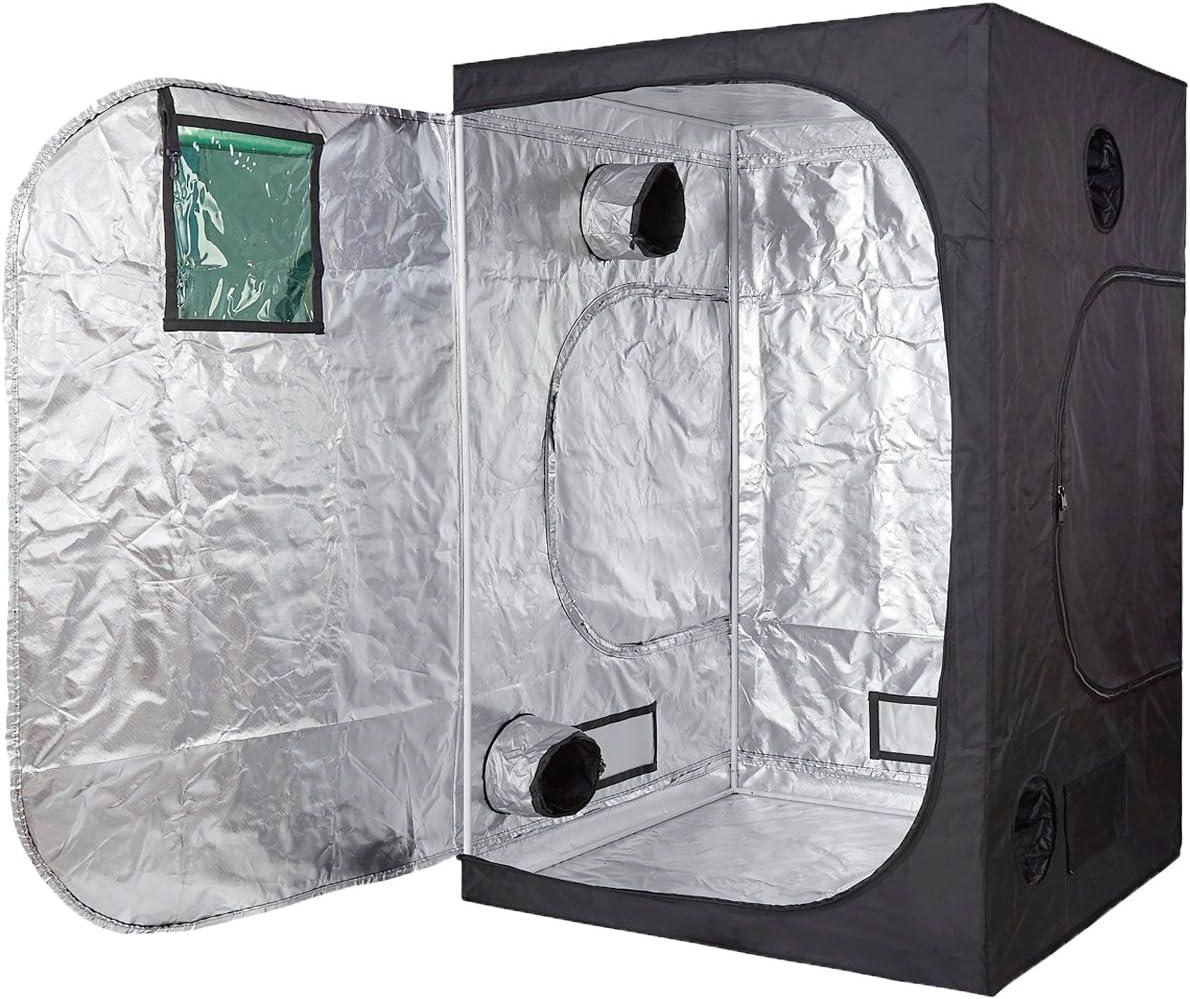TopoLite 60 x60 x80 Indoor Grow Tent Hydroponic Growing Dark Room Green Box with Viewing Window