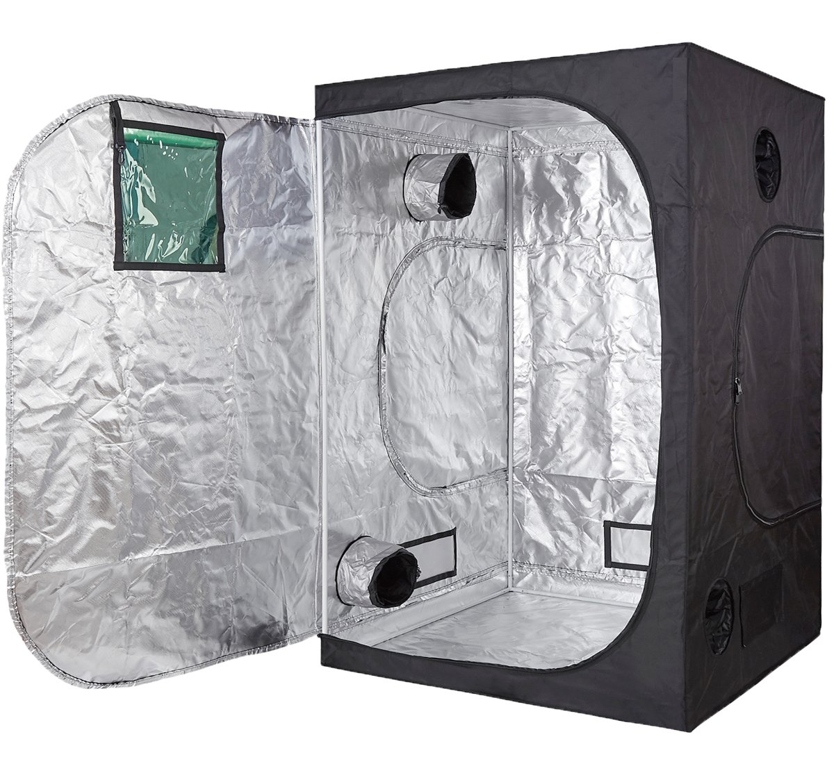 TopoLite 24''x24''x48'' 48''x24''x60'' 48''x48''x78'' 600D Grow Tent Room Reflective Mylar Indoor Garden Growing Room Hydroponic System (60''x60''x78'' w/window)