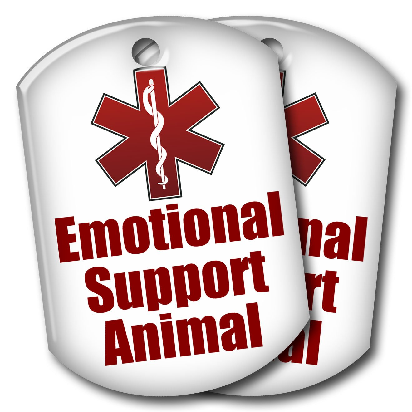 2 Emotional Support Animal ID Tags