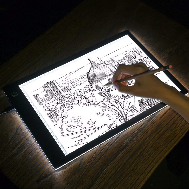 IzHotta Drawing Board A4 Tracer Copy Pad Panel Tablet Artist Animation Light for Stencil Artist Tattoo Design