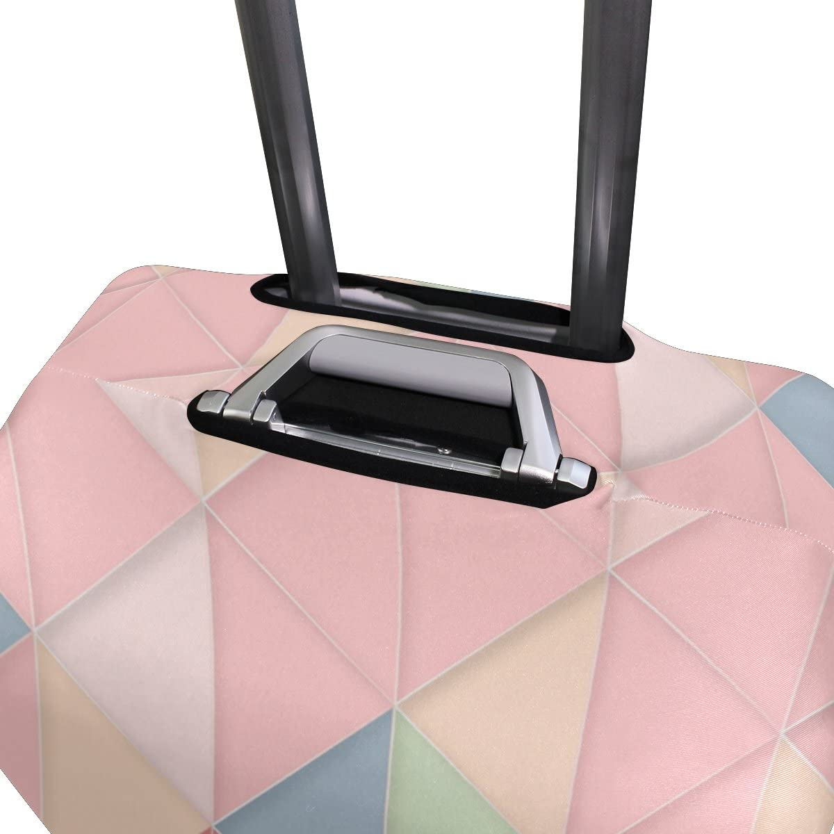 Cute 3D Pink Geometric Pattern Luggage Protector Travel Luggage Cover Trolley Case Protective Cover Fits 18-32 Inch