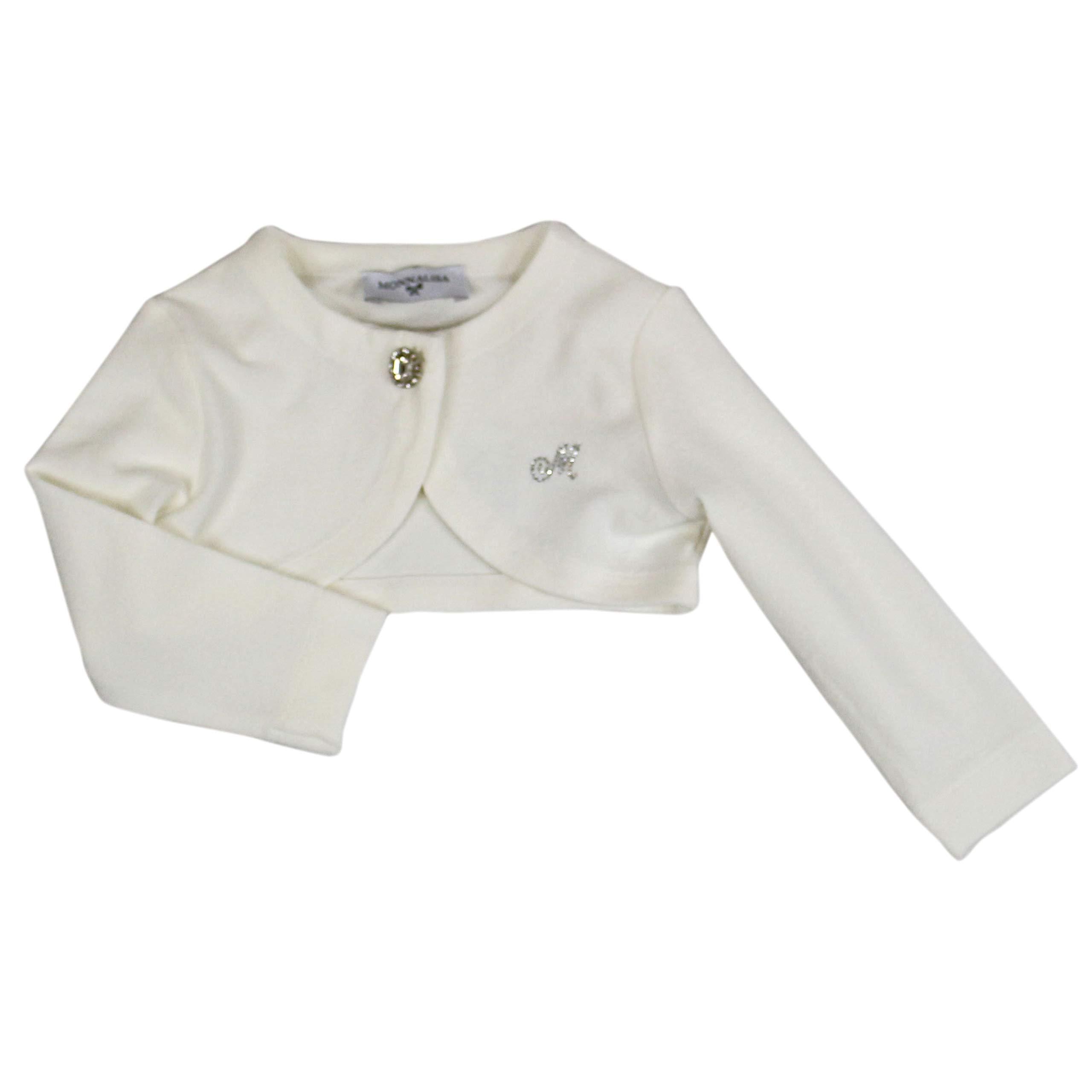 Monnalisa Luxury Fashion Baby-Girls Cardigan Summer White by Monnalisa