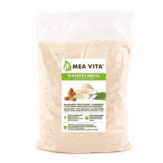 MeaVita harina de almendra, natural, blanqueada, 1 paquete (1 x 1000 g) en una bolsa