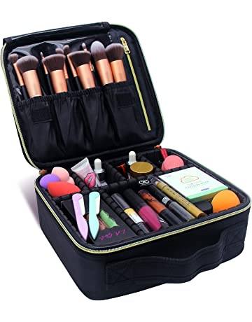 Makeup Train Cases Professional Travel Makeup Bag Cosmetic Cases Organizer  Portable Storage Bag for Cosmetics Makeup d15582eb7b4ea