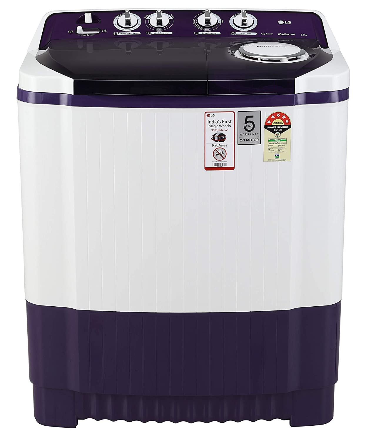 portable washing machine with 200 gram of detergent free