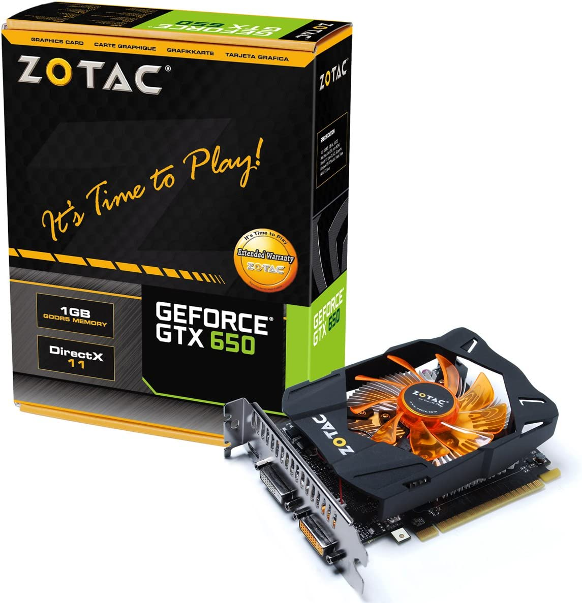 Zotac Geforce GTX 650 1GB GDDR5 ZT-61004-10M Nvidia Video Graphics Card GPU